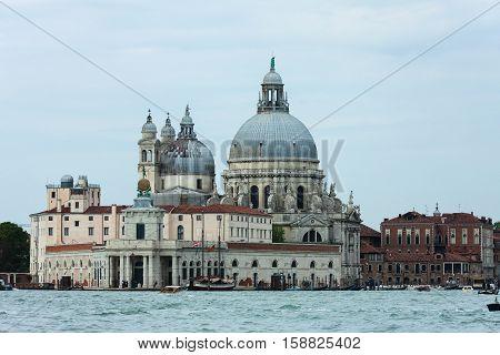 Basilica Saint Mary of Health - roman Catholic church and minor basilica located at Punta della Dogana in the Dorsoduro sestiere of the city of Venice, Italy