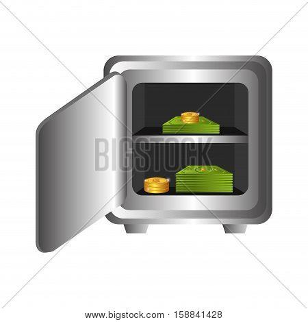 box heavy safe isolated icon vector illustration design