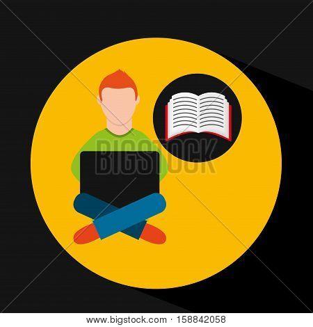 online training education-student e-learning vector illustration eps 10