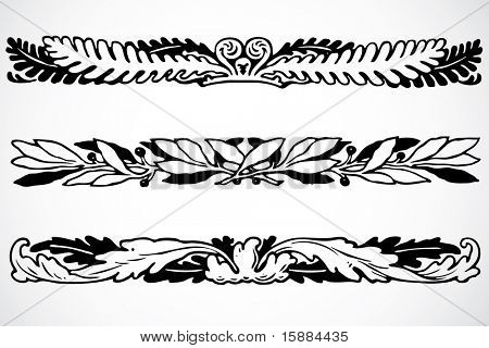 Vector Floral Border Ornaments