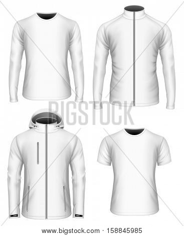 Men's clothes collection. Vector illustration. Fully editable handmade mesh.