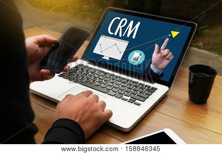 Crm  Business Customer Crm Management Analysis Service Concept , Customer Relationship Management Cr