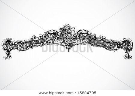 Vector Floral Border Ornament