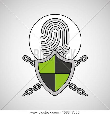 security system data fingerprint vector illustration eps 10
