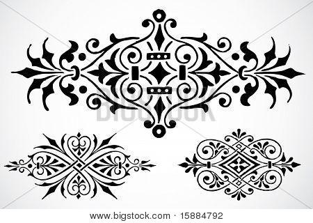 Vector Fleur De Lys Ornaments