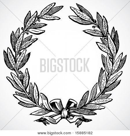 Vector Olive Wreath
