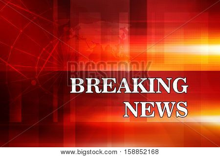 Graphical Breaking News Background with news text Red Theme Background with White Breaking News.