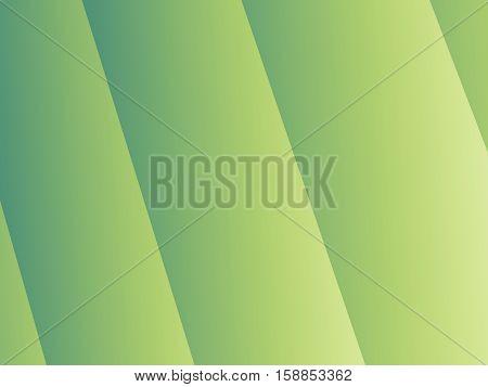 Simple green fractal background with vertical slanted stripes with shading. For layouts templates web design skins leaflets pamphlets brochures book covers desktop or mobile phone background.