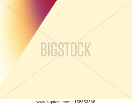 Vanilla pale yellow and red orange sharply divided gradient fractal background. Text space. For templates layouts presentations leaflets pamphlets brochures web design PC or phone background.