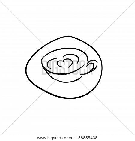 Adult's Scribble Series: A Cup of Coffee. Digital Artwork, Concept Illustration, Realistic and Abstract Ideas.