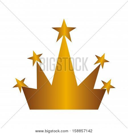 golden crown isolated icon vector illustration design