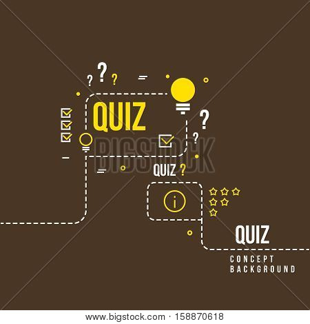 Quizzes, school exam quiz vector abstract background. Questionnaire quiz study illustration