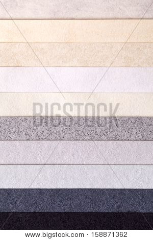 Background of colorful paper parallel horizontal stripes space for text