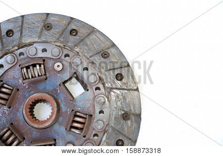Clutch old suffered damage Demolition removed prepare to change it.