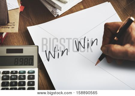 Win Win Situation Agreement Fair Trade Satisfaction Concept