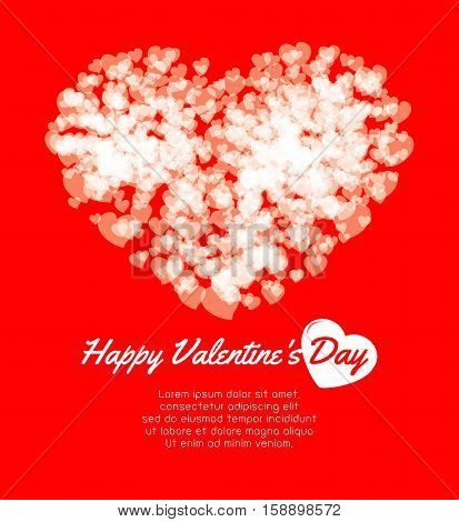 Happy Valentine's Day greeting card background, Couple in love, sweetheart , vector illustration.