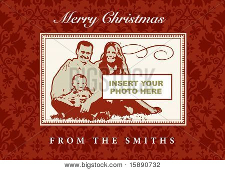 Vector Christmas Photo Frame