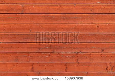 Red Wooden Wall, Flat Texture