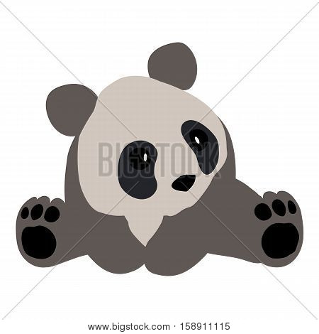 colored icon cute Panda on a white background. Template for decoration and design of textile or website. Vector illustration