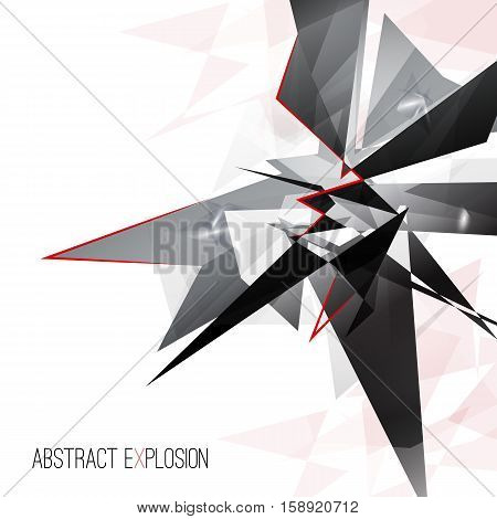 template or background design for posters or banners. explosion. abstract illustration