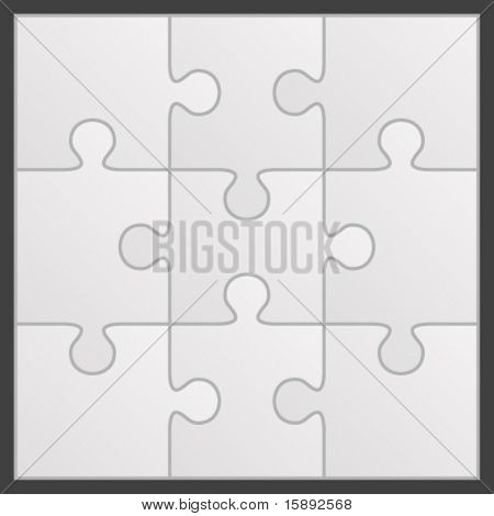 Puzzle vector illustration. Eps 10.