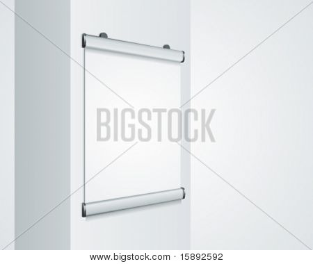 Advertising poster for hanging on column vector background