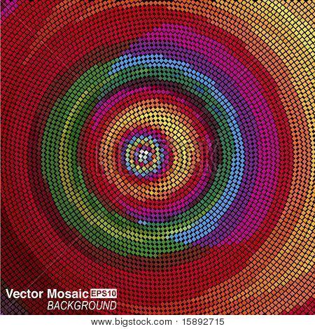 vector mosaic - Concentric circles