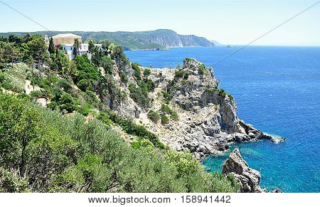 landscape on the island of Corfu, Greece, Europe