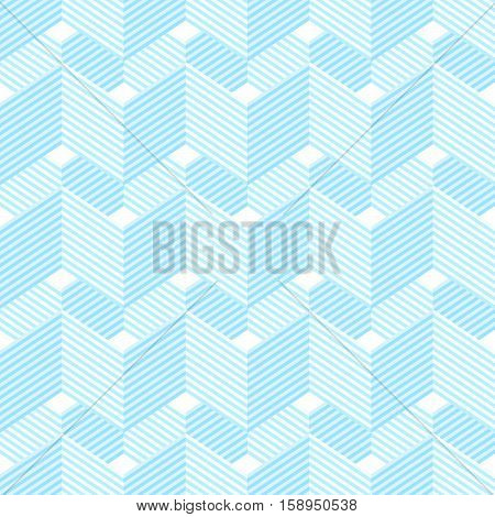 Seamless Pattern With Waves And Zigzags.