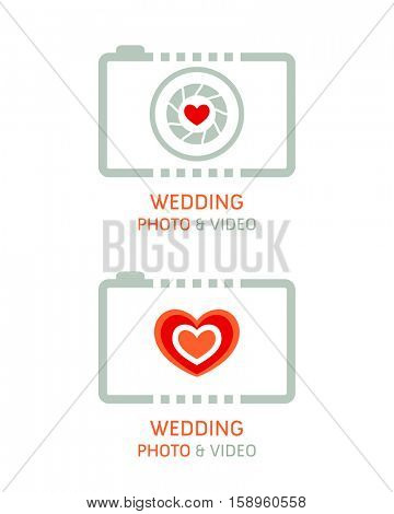 Wedding photo and video agency symbols