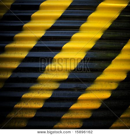 construction fence with warning stripe