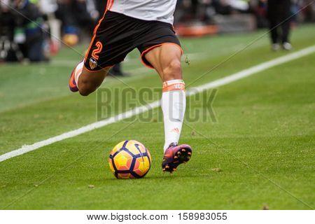VALENCIA, SPAIN - NOVEMBER 20th: Cancelo La Liga soccer match between Valencia CF and Granada CF at Mestalla Stadium on November 20, 2016 in Valencia, Spain