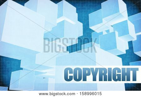 Copyright on Futuristic Abstract for Presentation Slide