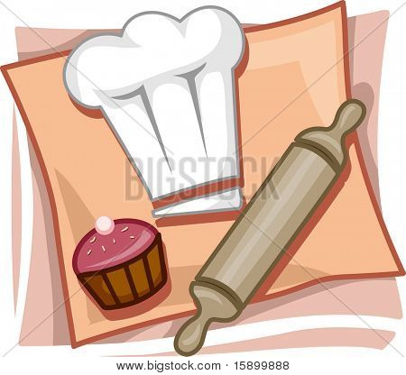 Illustration of Icons Representing Bakers