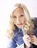 Blue Denim Blonde poster
