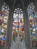 Detail Of The Stained Glass Window In The Choir Of The Cathedral, Bourges, France