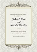 picture of wedding invitation  - Vector floral frame with sample text - JPG