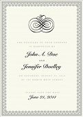Vector ornate frame with sample text and borders. Perfect as invitation or announcement. All pieces