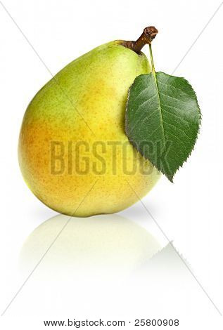 Pear isolated over white background.
