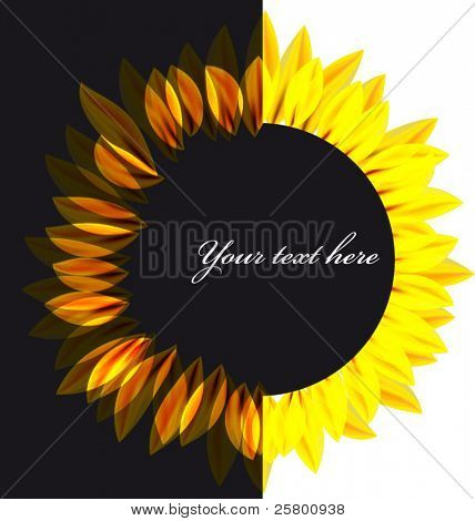Abstract vector sunflower background.