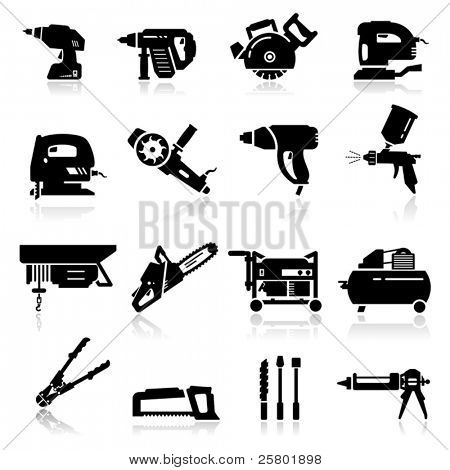 Icons set Industrial Tools