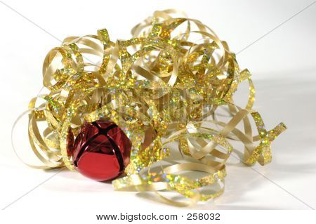 Curly Gold Ribbon