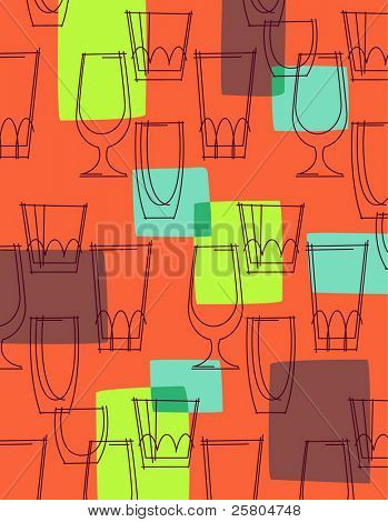 retro cocktail pattern 2