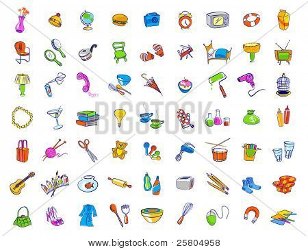 Random Household Objects Vector & Photo | Bigstock