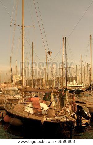 Sailboat In Port