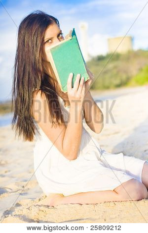 Girl Holding Book