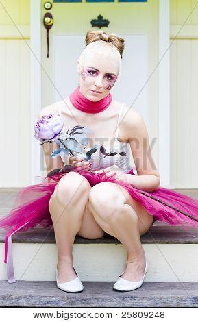 Floral Makeup Woman