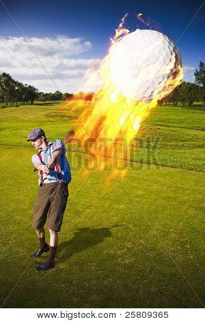 Burning Golf Ball