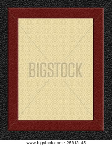 Leather look frame background