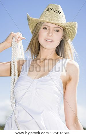 Happy Farm Woman